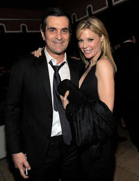 Ty Burrell and Julie Bowen at the after party of Weinstein Company's SAG in California.