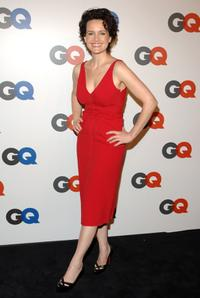 Carla Gugino at the GQ Magazine's 50th Year Celebration party.