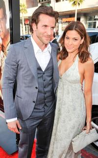Bradley Cooper and Eva Mendes at the premiere of
