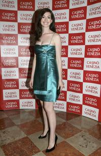 Anne Hathaway at the promotion of