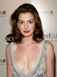 Anne Hathaway at the Amfar ACRIA Gala Benefit honoring Herb Ritts.