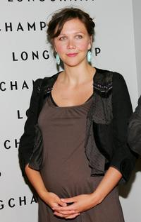 Maggie Gyllenhaal at the grand opening of the Longchamp U.S. flagship store.
