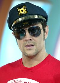 Johnny Knoxville at the MTV's Total Request Live.