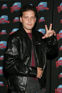 Corey Haim at the Planet Hollywood Times Square for his handprint ceremony.