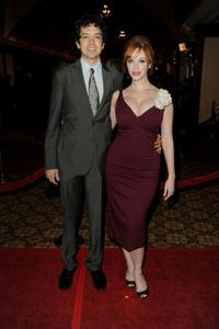 Geoffrey Arend and Christina Hendricks at the 62nd Annual Directors Guild Of America Awards.