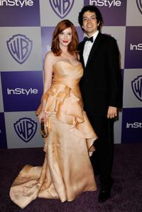 Christina Hendricks and Geoffrey Arend at the InStyle and Warner Bros. 67th Annual Golden Globes after party.