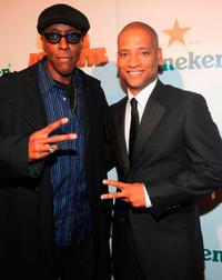 Arsenio Hall and Scott Sanders at the Los Angeles premiere of