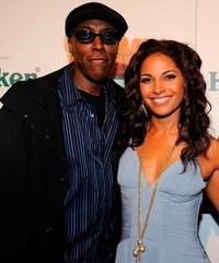 Arsenio Hall and Salli Richardson-Whitfield at the Los Angeles premiere of