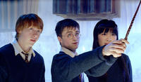 Rupert Grint, Daniel Radcliffe and Katie Leung in