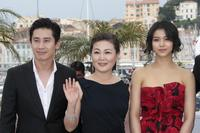 Shin Ha-kyun, Kim Hae-Sook and Kim Ok-Vin at the photocall of
