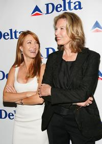 Maud Adams and Jane Seymour at the celebration of Delta Ailrines' newest international route between New York and London.