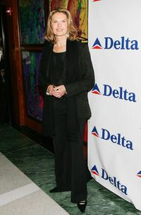 Maud Adams at the celebration of Delta Ailrines' newest international route between New York and London.