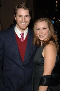 Sam Jaeger and his wife Amber at the premiere of
