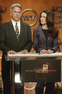Mark Harmon and Andie MacDowell at the 10th Annual Screen Actors Guild Awards Nominations.