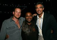 Cole Hauser, Anthony Anderson and Peter Liguori at the after party of