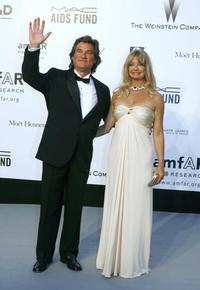 Goldie Hawn and Kurt Russell at the American Foundation for AIDS Research 'Cinema Against AIDS 2007' annual event at Le Moulin de Mougins during the 60th edition of the International Cannes Film Festival.