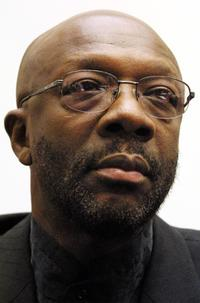 Isaac Hayes at the hearing on religious discrimination in western Europe.