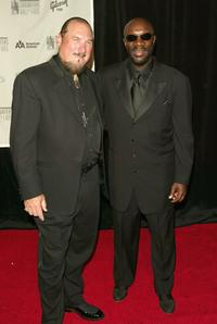 Isaac Hayes and Steve Cropper at the 2005 Songwriters Hall of Fame induction ceremony at the Marriott Marquis Hotel.