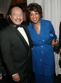 Sherman Hemsley and Marla Gibbs at the cocktail party of