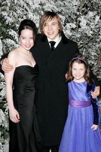 Anna Popplewell, William Moseley and Georgie Henley at the aftershow party following the Royal Film Performance and world premiere of