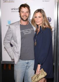 Barry Watson and Tracy Hutson at the Sony Cierge and The Richie-Madden Children's Foundation's private cocktail event.