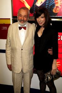 Mike Leigh and Sally Hawkins at the UK premiere of