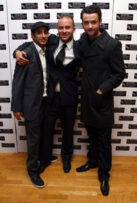 Riz Ahmed, Director Eran Creevy and Daniel Mays at the world premiere of