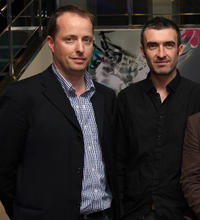 Producer Andrew Lowe and Mark O'Halloran at the premiere of