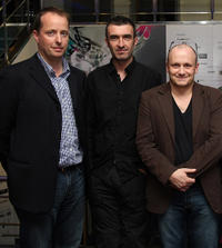 Producer Andrew Lowe, Mark O'Halloran and director Lenny Abrahamson at the premiere of