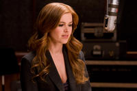 Isla Fisher on the set of