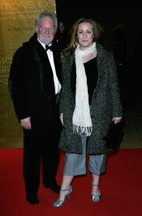 Bernard Hill and guest at the Morgan Stanley Great Britons 05 awards ceremony.
