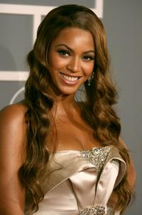 Beyonce Knowles at the 49th Annual Grammy Awards.