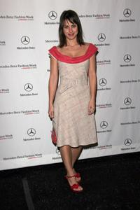 Constance Zimmer at the Smashbox during the Mercedes-Benz Fashion week.