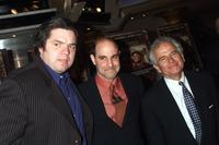 Ian Holm, Oliver Platt and Stanley Tucci at the Premiere of Joe Gould's Secret at the E-Walk Theater in New York City.