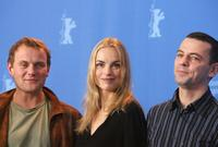 Devid Striesow, Nina Hoss and Director Christian Petzold at the photocall of