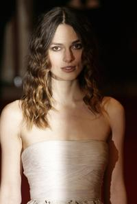 Keira Knightley at the British Academy of Film and Television Awards.