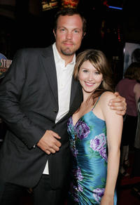 Adam Baldwin and Jewel Staite at the California premiere of