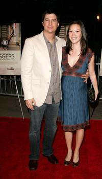 Ken Marino and Erica Marino at the premiere of