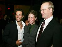William Hurt, Kyle Schmid and Ashton Holmes at the after partyfor the premiere of