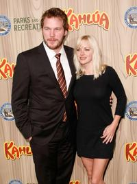 Chris Pratt and Anna Faris at the premiere of
