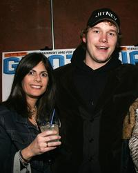Valerie Schaer and Chris Pratt at the Sundance party of
