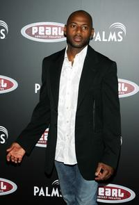 Romany Malco at the Gwen Stefani concert serving as the grand opening of the Pearl concert theater.