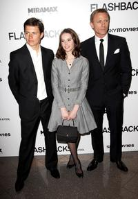 Harry Eden, Felicity Jones and Daniel Craig at the UK premiere of