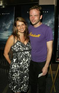 Dallas Roberts and his wife at the premiere of
