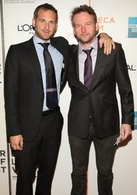 Josh Lucas and Dallas Roberts at the premiere of