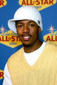 Nick Cannon at the 2007 NBA All-Star Game.