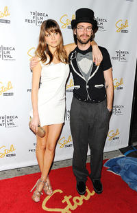 Lake Bell and Martin Starr at the New York premiere of