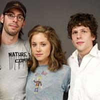 Martin Starr, Margarita Levieva and Jesse Eisenberg at the 2009 Sundance Film Festival.
