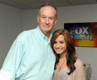 Bill O'Reilly and singer Demi Lovato at the