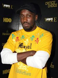 Michael Kenneth Williams at the Men's Vogue Critics Choice celebration for